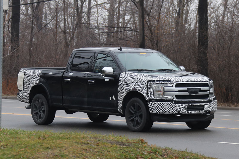 Hybrid Pickup Trucks >> Spy Shots: Ford's New Look 2018 F-150 Pickup Truck Caught on Road | Trucks.com