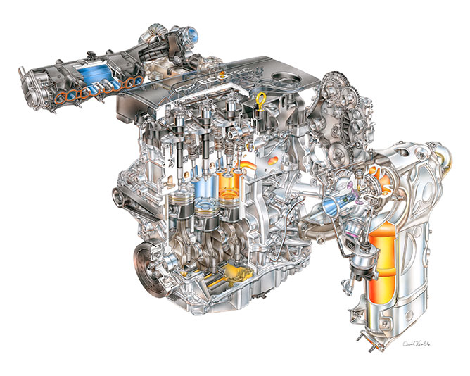 Ecotec 1.6 Turbo Diesel illustration for Cruze and Equinox