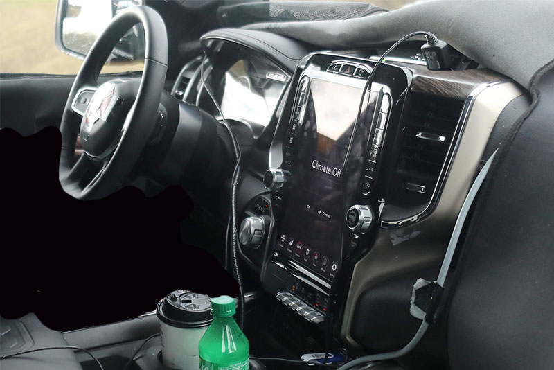 Spy Shots: Exposed 2019 RAM 1500 Interior Shows Vertical Touchscreen
