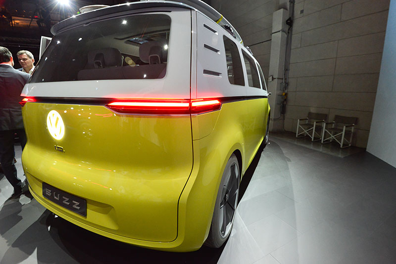 Back of the Volkswagen I.D. Buzz van at the 2017 Los Angeles Auto Show