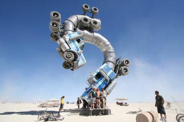 Big Rig Jig: An Insane Art Sculpture Made From Two Discarded Tanker Trucks