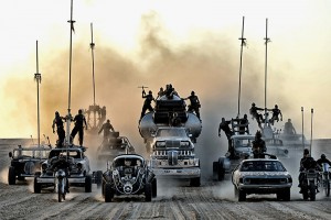 All the vehicles from Mad Max on the Fury Road
