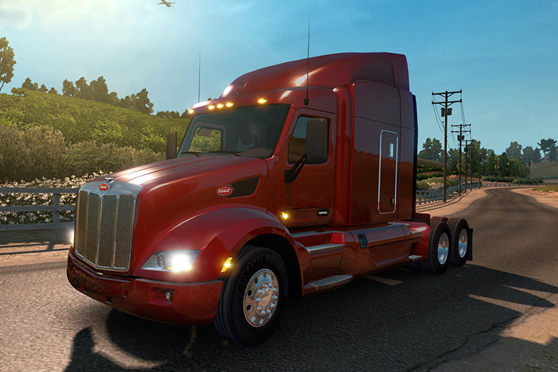 Red Semi Truck Video Game Action