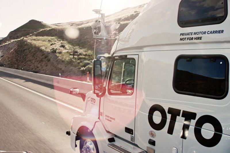 Otto Truck Self Driving Front View