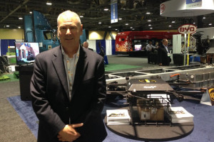Steve Burns, chief executive of Workhorse Group Inc. with HorseFly delivery drone.
