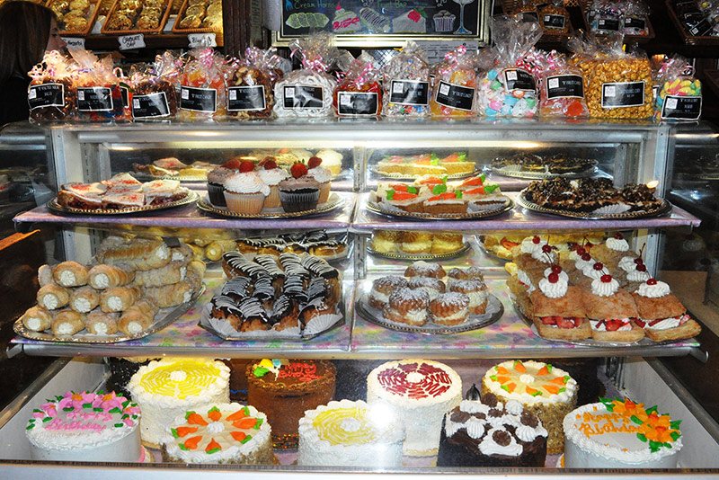 R Place Truck Stop Bakery Display