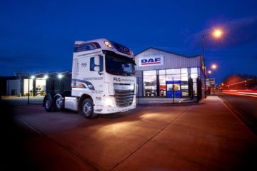 DAF truck dealership in Manchester, England