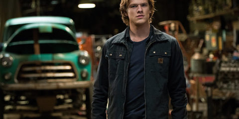 Lucas Till Start of Monster Trucks Movie Set