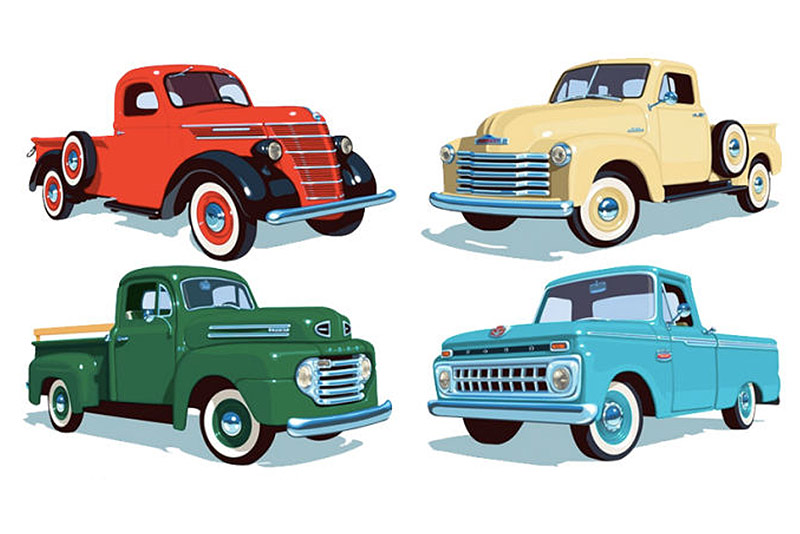 USPS Pickup Trucks New Stamps