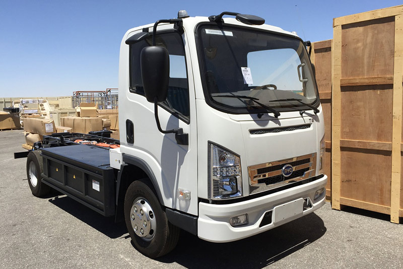 BYD T5 electric service truck.