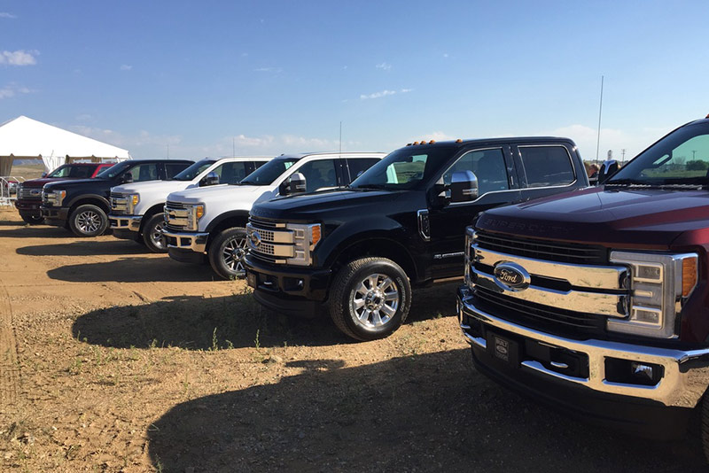 Ford 2017 F-series Super Duty trucks tested by the automotive media near Denver, Colo. (Photo: Jerry Hirsch/Trucks.com)