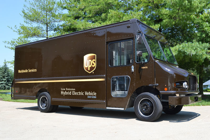 UPS hybrid delivery truck