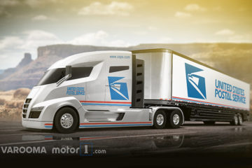 USPS mail truck vision concept nikola one