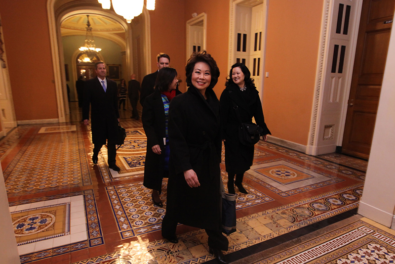 Elaine Chao Head of US DOT at 2015 State of the Union
