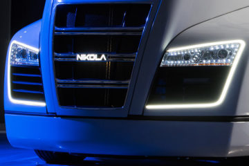 Nikola One electric semi-truck front grille