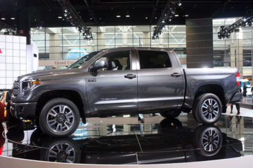 Toyota tundra TRD Pickup Truck side