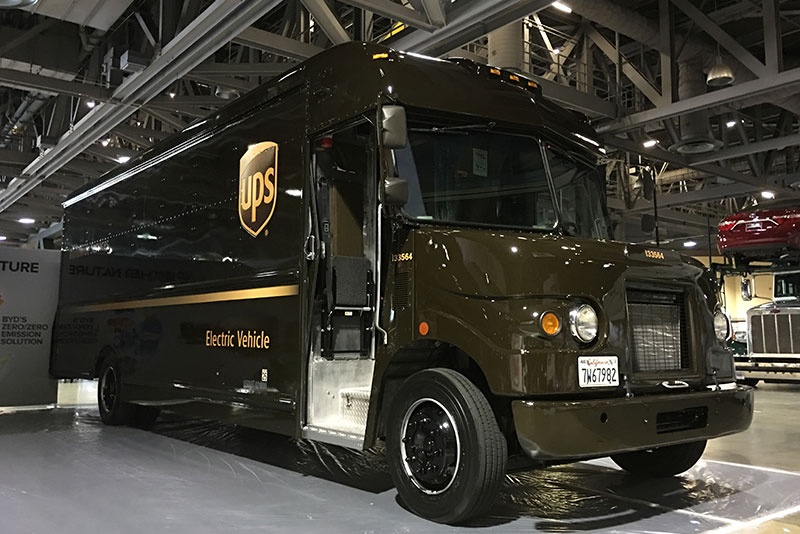 BYD electric ups truck