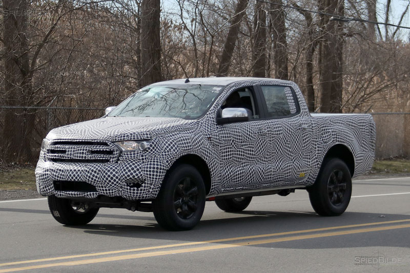 Spy Shots Ford Tests 2019 Ranger Pickup Truck Near Headquarters