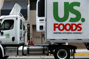A US. Foods truck is shown on delivery in San Diego