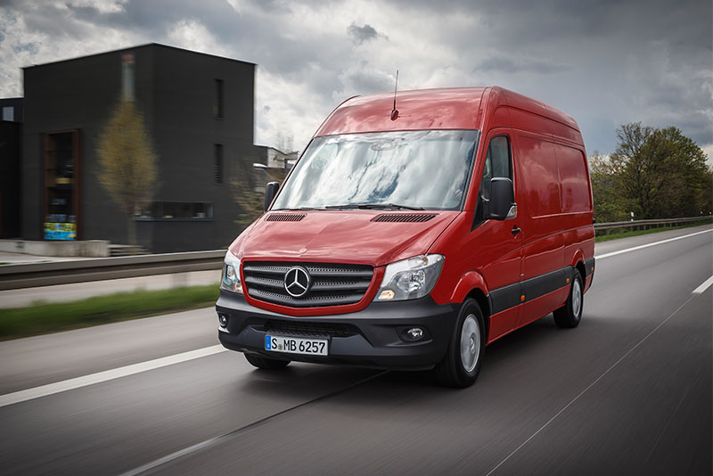 mercedes benz sprinter van.