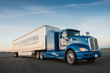 Toyota's Project Portal hydrogen fuel cell Class 8 truck. (Photo: Toyota)