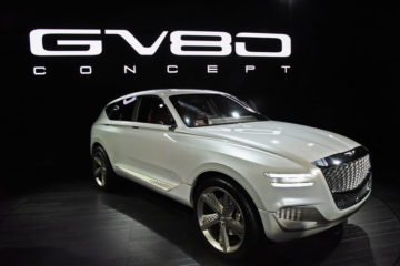 Genesis GV80 fuel cell SUV concept. (New York International Auto Show)