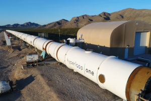 Hyperloop One test track in the Nevada desert.