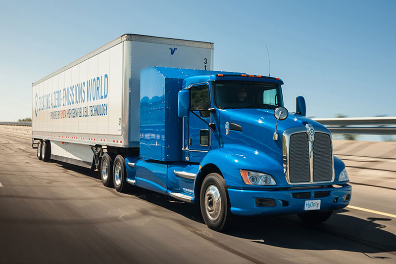 Toyota Project portal hydrogen fuel cell truck