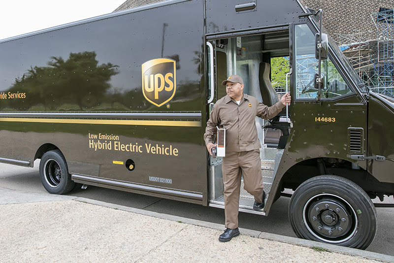 UPS Hybrid Electric Vehicle - low emission