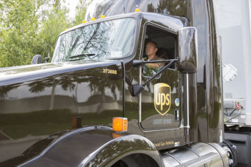 UPS Natural Gas Tractor