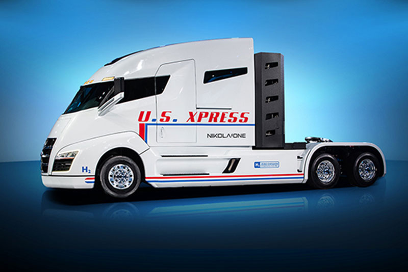 Us Express NIkola One autonomous semi truck