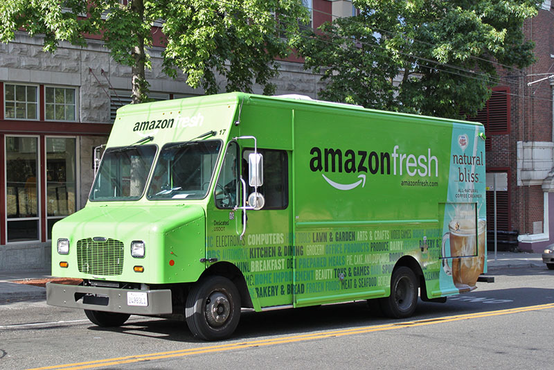 Amazon Fresh truck on Capitol Hill