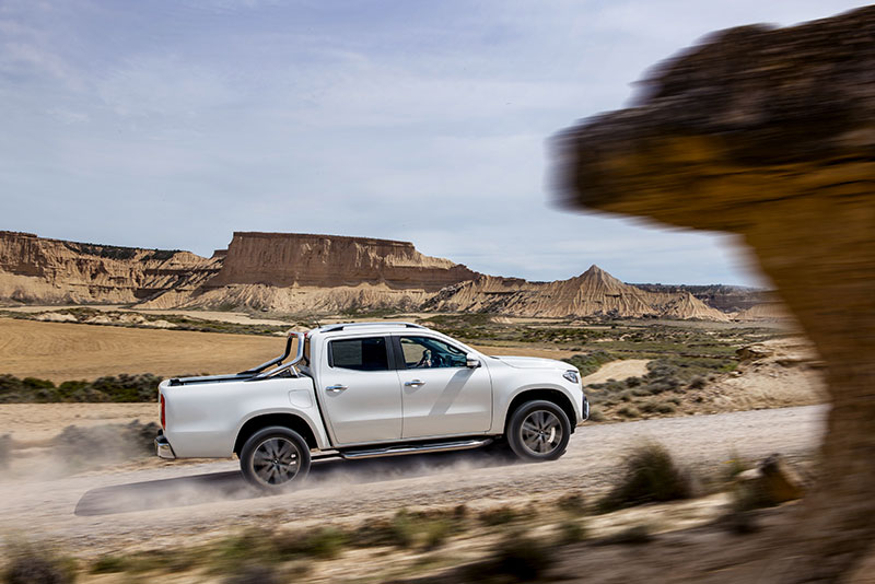 Mercedes-Benz X-Class pickup truck on the road
