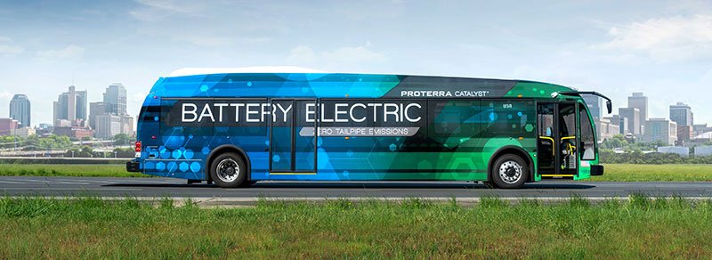 Proterra Catalyst electric bus side view