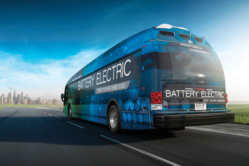 Proterra Catalyst electric bus back view
