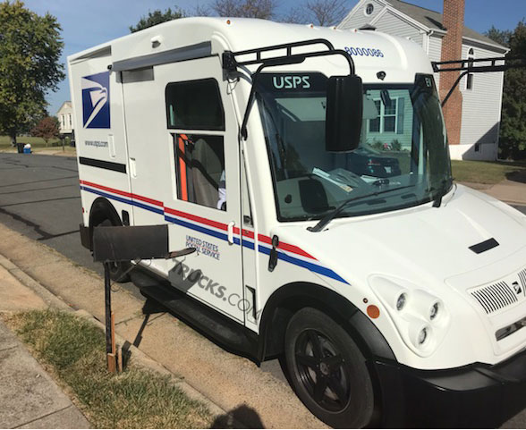 Workhorse Electric Postal Truck Side
