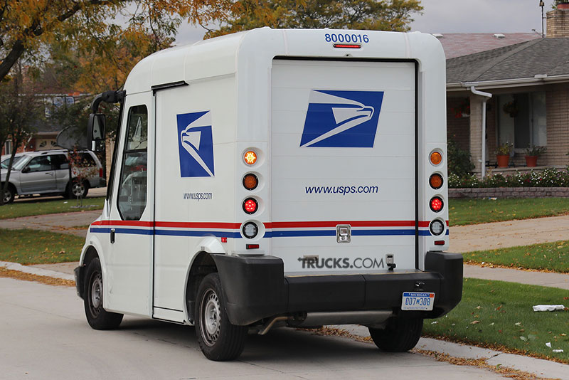 AM General postal service new truck back