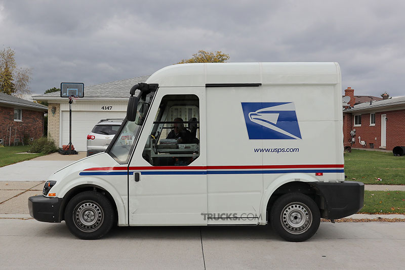 AM General postal service new truck side