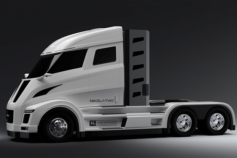 Nikola Two Electric Fuel Cell Truck Photo Motor