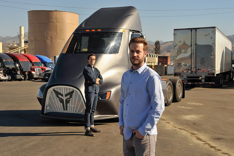 Dakota Semler, CEO and Giordano Sordoni, COO of Thor Trucks.