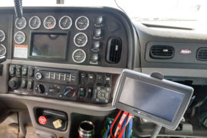 ELD in the cab of a truck