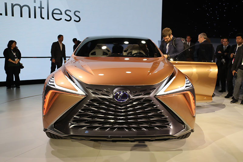 Lexus LF-1 Limitless concept at the 2018 North American International Auto Show.