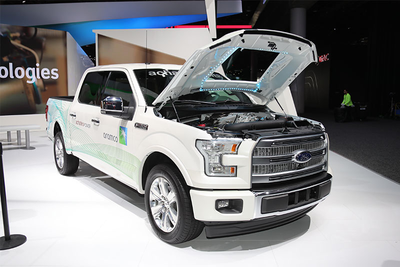 Achates Power And Aramco Services Outfitted A Ford F  With Achates New Compression Ignition Gasoline Powered Opposed Piston Engine The Company Says