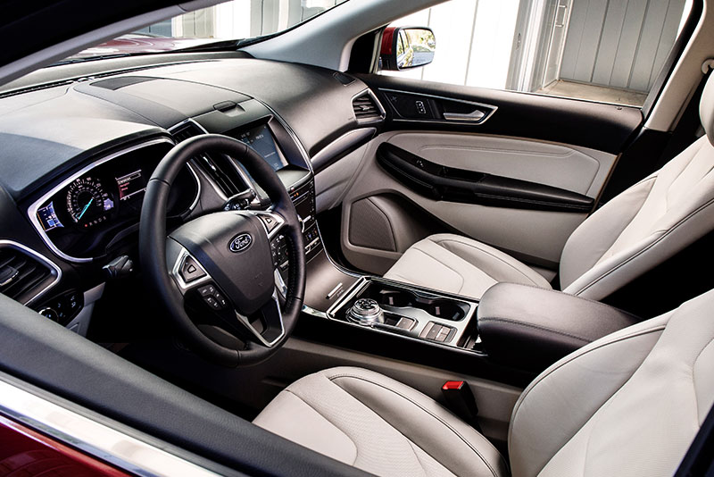 2018 detroit auto show ford edge st looks acts sportier. Black Bedroom Furniture Sets. Home Design Ideas