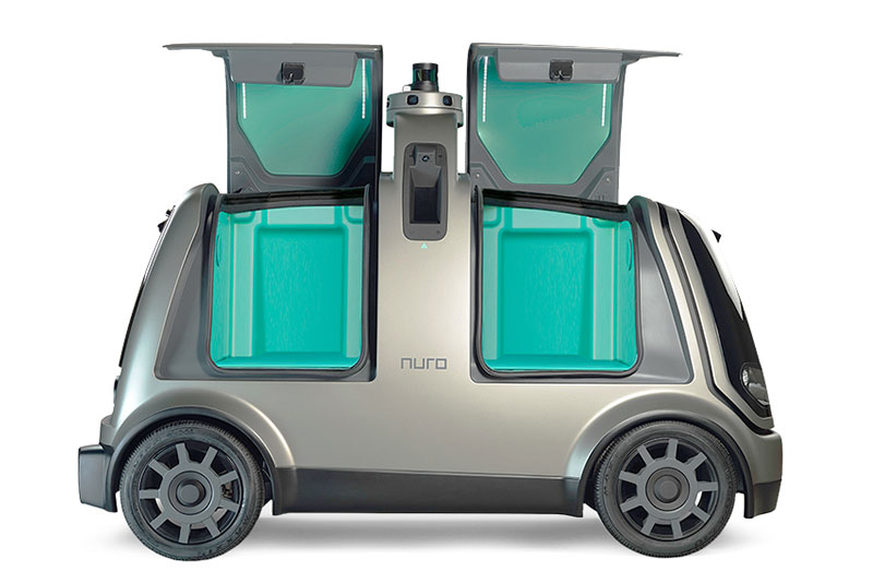 The Nuro delivery vehicle