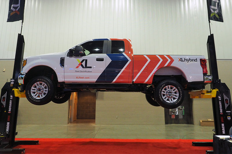 XL Hybrid's F-250 XLH at the 2018 Work Truck Show. (Photo: Sebastian Blanco/Trucks.com)