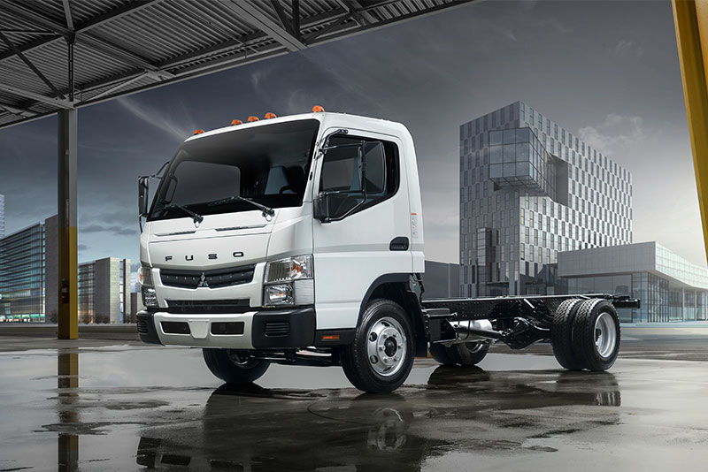 Fuso's new gas-powered FE cabover truck.