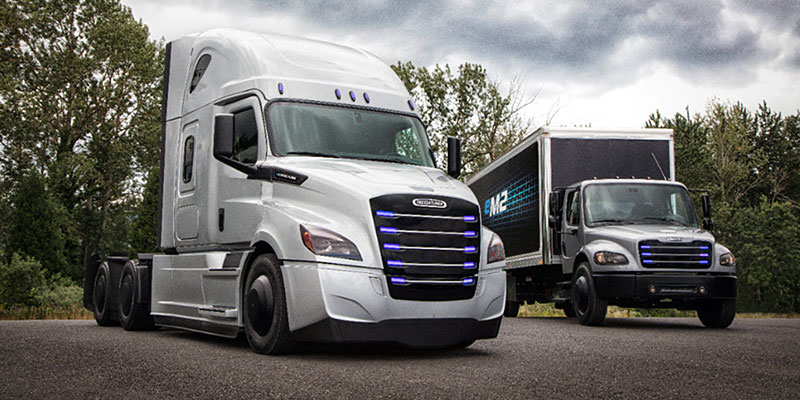 Daimler Trucks North America will begin testing two all-electric models, the eCascadia and eM2, in Southern California by the end of the year.