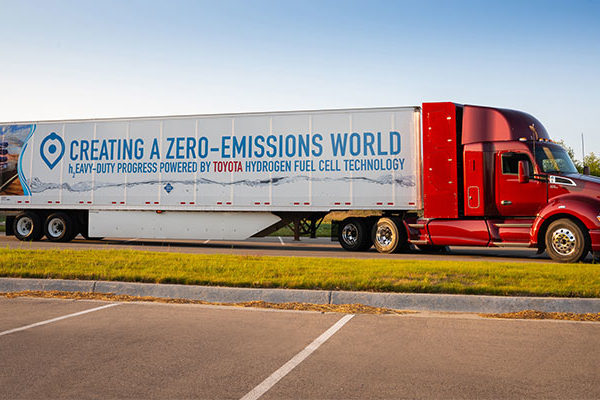 """Toyota revealed a new prototype of its """"Project Portal"""" fuel cell electric truck Monday, hinting strongly at future commercialization."""
