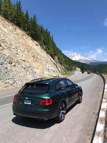 The Bentley Bentayga V8 on the road